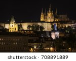 prague castle and vltava river... | Shutterstock . vector #708891889