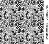 seamless ornamental ethnic... | Shutterstock .eps vector #708893701