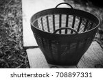 handle basket plastic on floor... | Shutterstock . vector #708897331