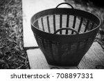 handle basket plastic on floor... | Shutterstock . vector #708897331