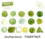 vector green watercolor design... | Shutterstock .eps vector #708897805