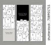 greeting cards design  polar... | Shutterstock .eps vector #708901711