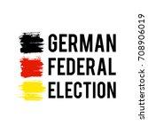 german flag paint brush strokes ... | Shutterstock .eps vector #708906019