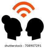 mutual understanding icon | Shutterstock .eps vector #708907291