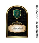 illustration golden frame label ...   Shutterstock .eps vector #70890898
