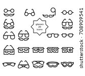 glasses sign symbol design... | Shutterstock .eps vector #708909541