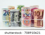 currencies and money exchange... | Shutterstock . vector #708910621