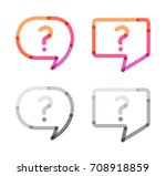 speech bubbles with question... | Shutterstock .eps vector #708918859