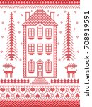 nordic style and inspired by... | Shutterstock .eps vector #708919591