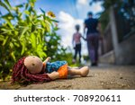 Lost Toy Doll Lying On The Road ...