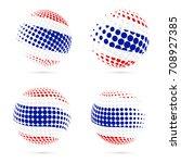 thailand halftone flag set...   Shutterstock .eps vector #708927385