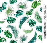 seamless pattern of tropical... | Shutterstock .eps vector #708932767