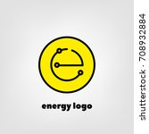 logo energy. e in a yellow... | Shutterstock .eps vector #708932884