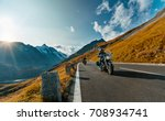 motorcycle driver riding in... | Shutterstock . vector #708934741