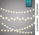 christmas lights isolated on... | Shutterstock .eps vector #708936649