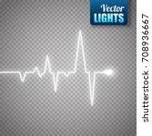 heart pulse isolated on... | Shutterstock .eps vector #708936667