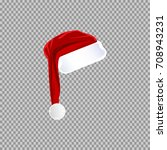 eps 10 vector red santa's hat... | Shutterstock .eps vector #708943231