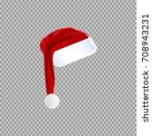 eps 10 vector red santa's hat... | Shutterstock .eps vector #708943231