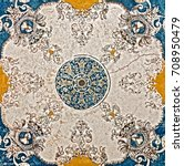 arabesque marble pattern... | Shutterstock . vector #708950479