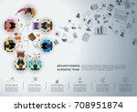 idea concept for business... | Shutterstock .eps vector #708951874