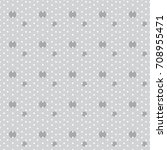 monochrome vector pattern.... | Shutterstock .eps vector #708955471