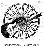 cool grunge hand drawn electric ... | Shutterstock .eps vector #708959071