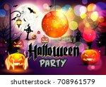 halloween. party halloween...   Shutterstock .eps vector #708961579