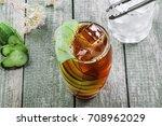 alcoholic cocktail kreuzberger...   Shutterstock . vector #708962029
