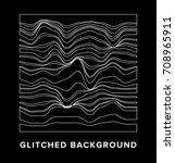 image of glitched surface.... | Shutterstock .eps vector #708965911