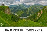 georgian military road and... | Shutterstock . vector #708968971