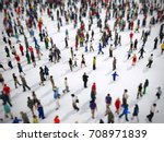 tilt shift focus on a large... | Shutterstock . vector #708971839