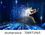 fast internet connection... | Shutterstock . vector #708971965