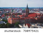 Stock photo beautiful super wide angle summer aerial view of hannover germany lower saxony seen from 708975421