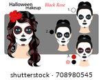 drawing technique makeup... | Shutterstock .eps vector #708980545