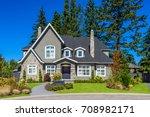 luxury house in vancouver ... | Shutterstock . vector #708982171