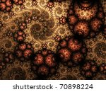 Abstract Vintage Fractal In...