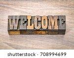 welcome banner   word  in... | Shutterstock . vector #708994699
