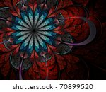 Colorful Fractal Flower Pattern