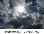 blue sky and white cumulus... | Shutterstock . vector #709003759