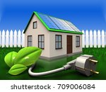 3d illustration of home with... | Shutterstock . vector #709006084