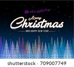 merry christmas abstract... | Shutterstock .eps vector #709007749