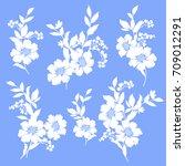 flower illustration material | Shutterstock .eps vector #709012291