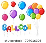 colorful balloons with word... | Shutterstock .eps vector #709016305
