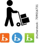 person transporting goods  ... | Shutterstock .eps vector #709016731