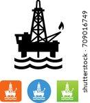 oil rig icon | Shutterstock .eps vector #709016749