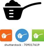 measuring cup with scoop of... | Shutterstock .eps vector #709017619