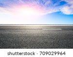 beautiful sky cloud and asphalt ...   Shutterstock . vector #709029964