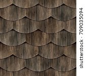 Seamless Fish Scales Wood Roof...