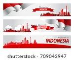 vector red color flat design ... | Shutterstock .eps vector #709043947