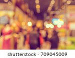 abstract blur shopping mall or... | Shutterstock . vector #709045009